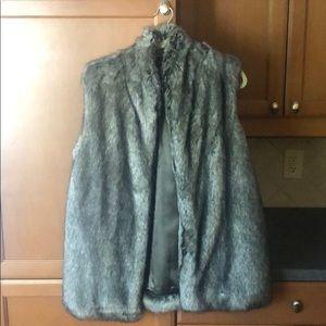 French Connection never worn faux fur vest